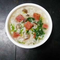 午餐肉蔬菜粥