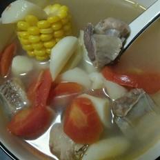排骨玉米山药胡萝卜番茄汤