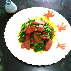 牛肉腸炒韭菜花的做法大全