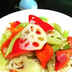 炒三色素菜