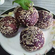 紫薯芝麻球