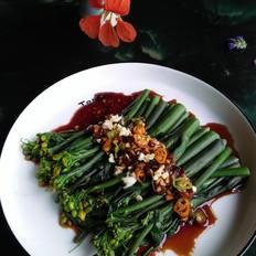 蒜香红油菜