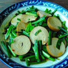 韭菜炒豆腐卷
