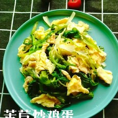 苦苣炒鸡蛋