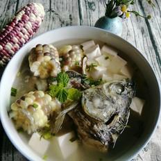 玉米豆腐鱼头汤