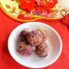 小米紫薯球
