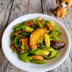 大骨棒怎么做香菇炒芹菜的做法