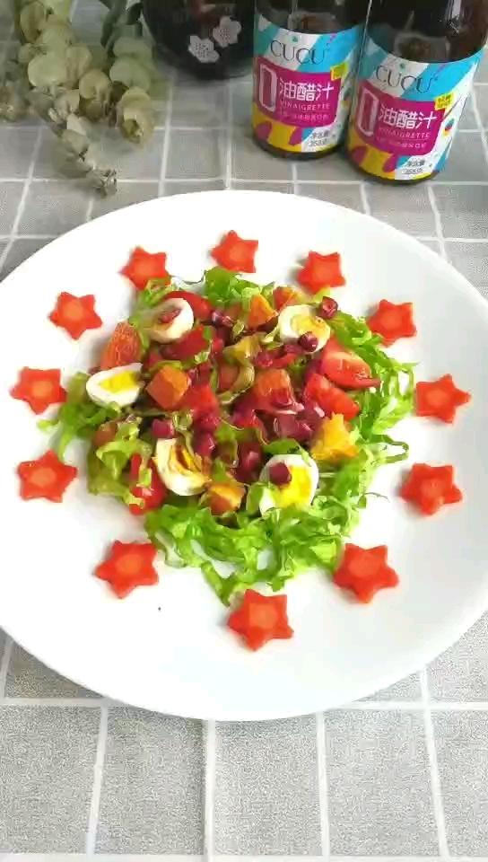 油醋汁蔬菜水果沙拉的做法