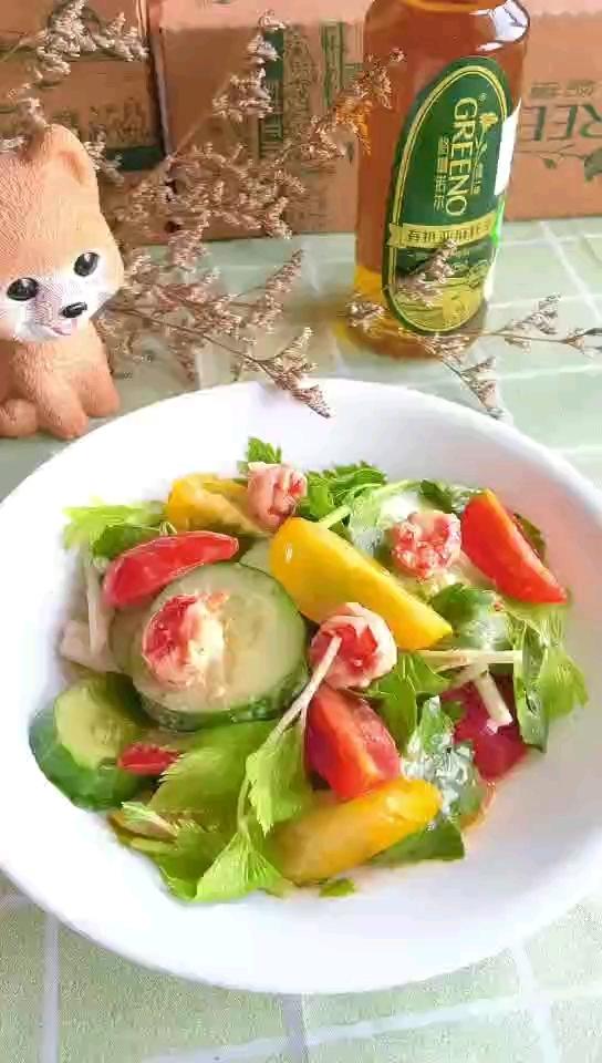 格琳诺尔蔬菜虾仁沙拉的做法