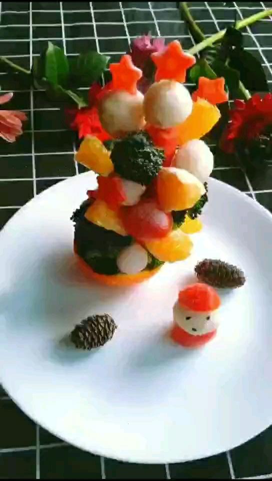 蔬菜水果树的做法