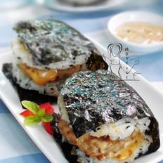 海苔米饭汉堡