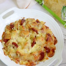 酸菜香肠焗土豆丨霸王超市