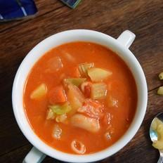 蔬菜意面浓汤丨霸王超市