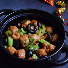 香菇虾米焖鱼丸