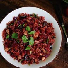 甜菜根拌红米饭