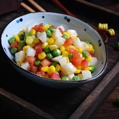 番茄玉米炒豌豆
