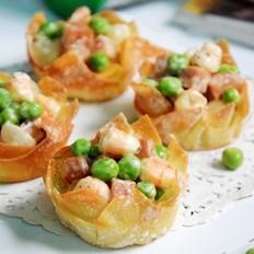 豌豆虾仁盏