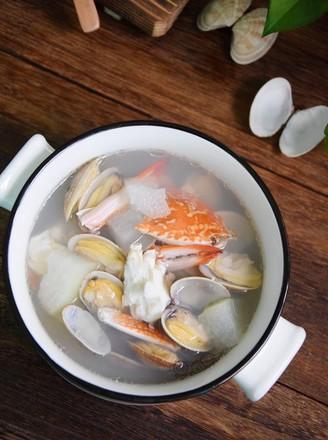 冬瓜双花海鲜汤的做法