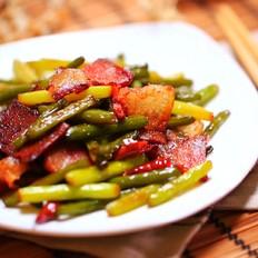 蒜苔茶腊肉