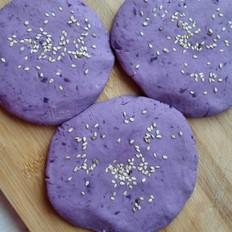 紫薯糯米粉饼