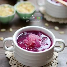 皂角米紫薯银耳羹