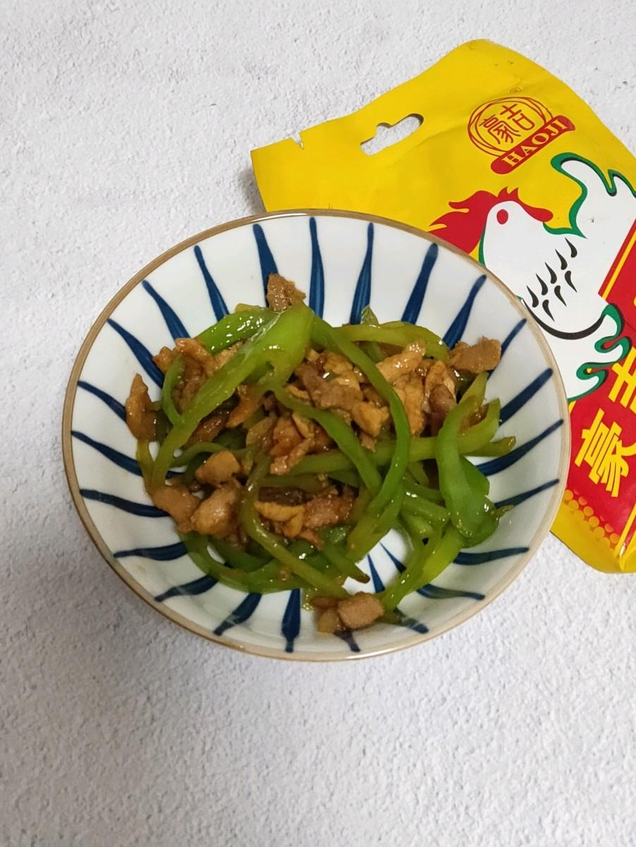 海蜇怎么拌好吃青椒炒肉丝的做法