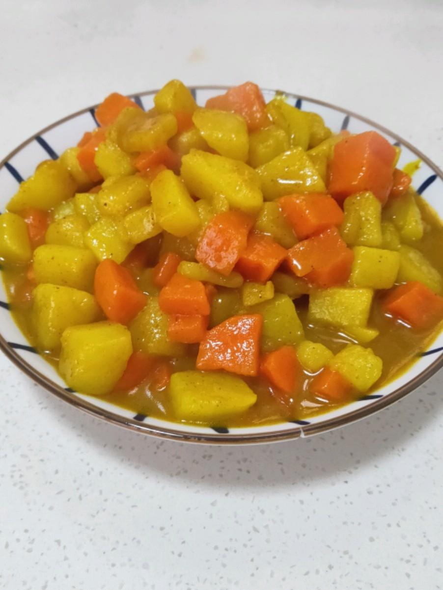 咖喱炖胡萝卜土豆