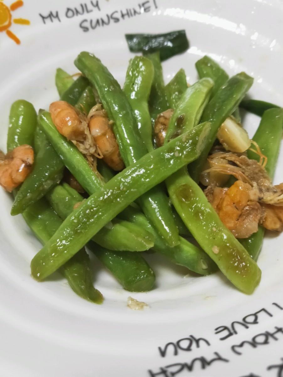 虾仁炒豆的做法