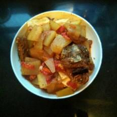 酱排骨烩豆腐冬瓜