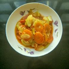蔬菜炒鸭肉