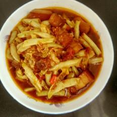 红烧肉烩豆角