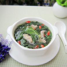 枸杞叶肉片汤