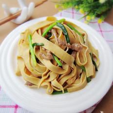 豆腐皮炒肉丝