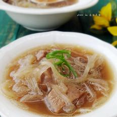 猪肺萝卜丝汤