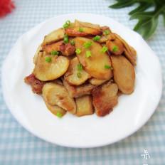 五花肉煸杏鲍菇