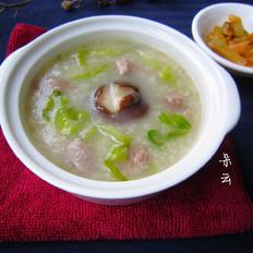 生菜瘦肉粥