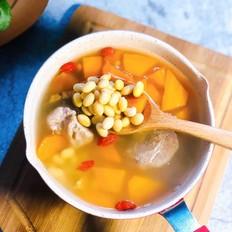 胡萝卜黄豆排骨汤