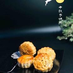 广式红豆沙蛋黄月饼