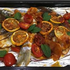 外焦里嫩的果味烤魚