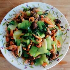 香菇油菜炒海虾