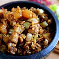 土豆豆角焖饭