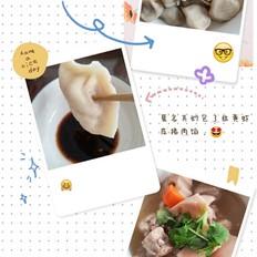 韭黄虾皮猪肉馅饺子