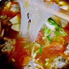 番茄粉丝肉圆汤