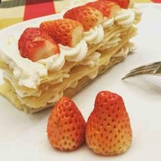 懒人版草莓千层酥的做法