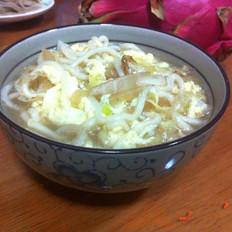 白菜鸡蛋汤面