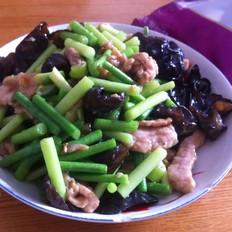 木耳蒜苔炒肉