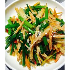 韭菜苔炒蟹腿肉
