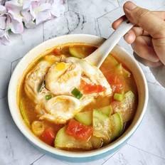 番茄西葫芦鸡蛋汤