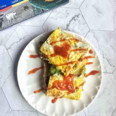 鸡蛋饼卷菜