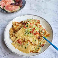 黄瓜丁鸡蛋煎饼